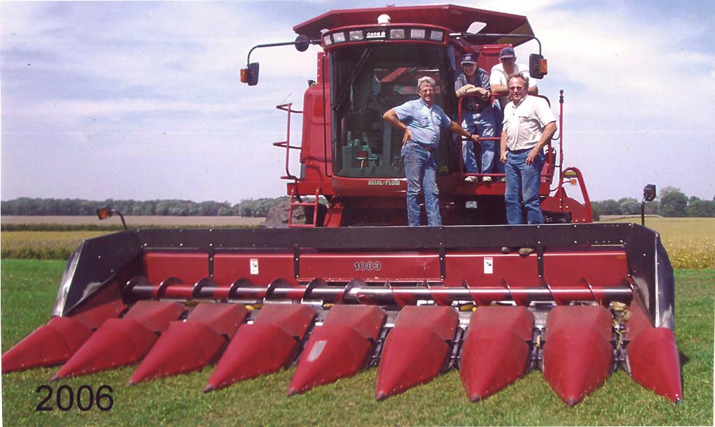 Combine, Farmers, Corn