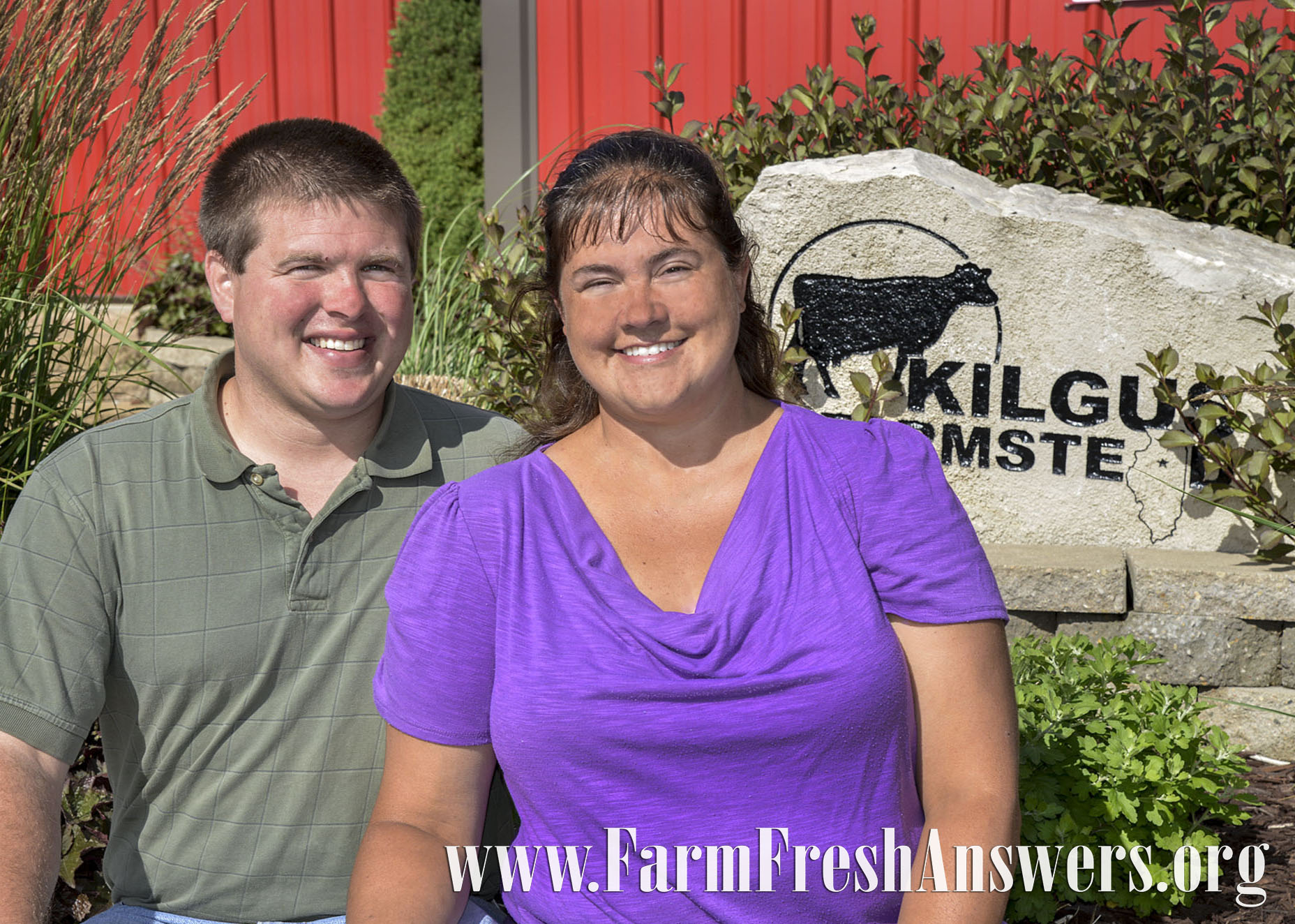 Matt & Jenna Kilgus bottle milk from their family's herd of Jersey dairy cows right on their farm near Fairbury. Photo courtesy of Illinois Farm Bureau